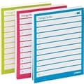 Poppin Assorted Pool/Lime/Pink Set of 3 Task Pads