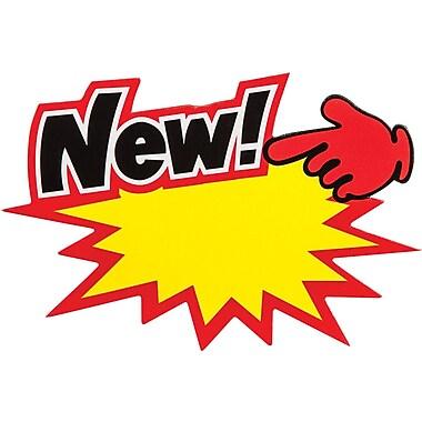 Affichettes Starburst « New », 5 po x 3 1/2 po x 3 1/2 po, bte/72