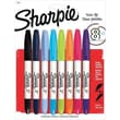 Sharpie® Twin Tip Permanent Markers, Assorted Ink Colors, 8/Pack