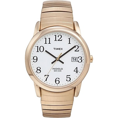 Timex Men's Classic Watch with Gold Expansion Bracelet