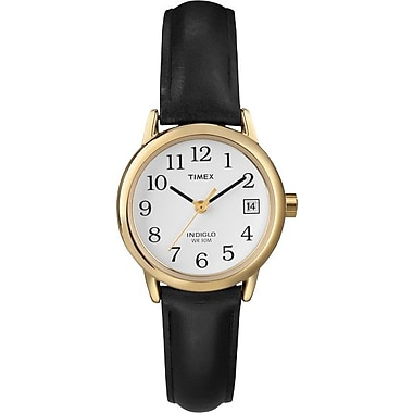 Timex Ladies Classic Watch with Black Leather Strap
