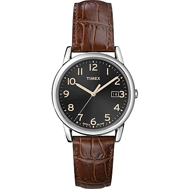 Timex Men's Classic Dial Watch, Dark Brown