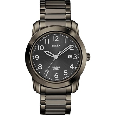 Timex Men's Classic Watch Black Dial with Stainless Steel Bracelet