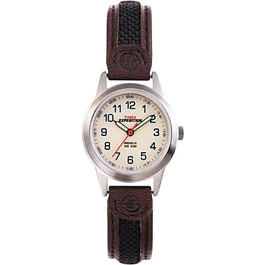 Timex Midsize Expedition Watch with Nylon and Brown Leather Strap