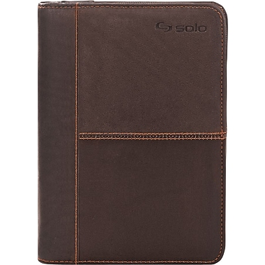 Solo Madison Leather Padfolio for iPad mini VTA133, Espresso