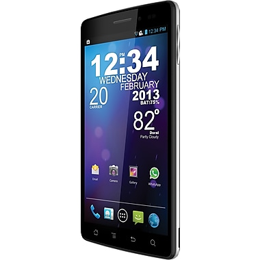 Blu Quattro 5.7 HD D460 Unlocked GSM Android Cell Phone, Black