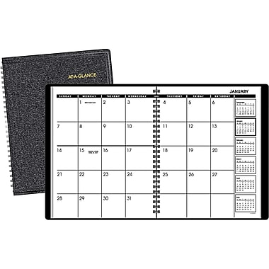 2015 AT-A-GLANCEMonthly Planner, 6 7/8in. x 8 3/4in., Black