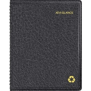 AT-A-GLANCE 2015 Recycled Monthly Planner, Black, 6 7/8 x 8 3/4