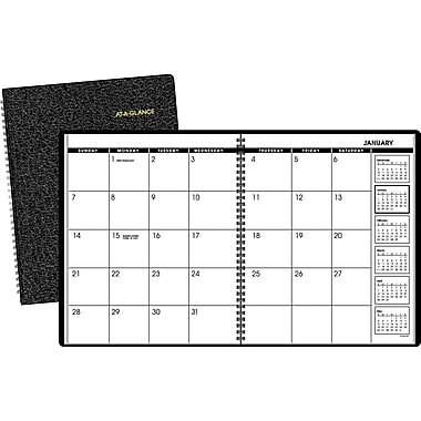 2015 AT-A-GLANCEMonthly Planner, 9in. x 11in., Black