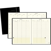 "2016 AT-A-GLANCE® Weekly/Monthly Appointment Book Planner, 7 3/8"" x 9 3/4"", Black, (70-6950-05)"