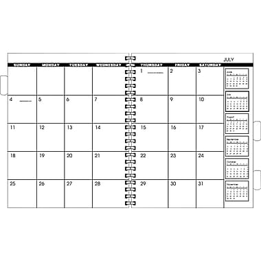"AT-A-GLANCE® 2016 Refillable Monthly Planner Refill, January - December, White, 9"" x 11"""