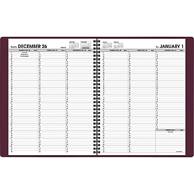 2015 AT-A-GLANCEWeekly Appointment Book, 8 1/4in. x 10 7/8in., Winestone