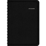 AT-A-GLANCE 2015 QuickNotes® Recycled Daily/Monthly Appointment Book, Black, 4 7/8 x 8