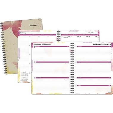 2015 AT-A-GLANCE® Watercolors Weekly/Monthly Planner, 8 1/2in. x 11in.