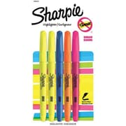 Sharpie® Accent® Pocket Style Highlighters, Narrow Chisel Tip, Assorted Colors, 5/pk (1908101)