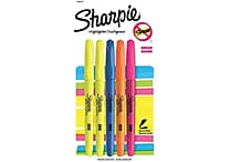 Sharpie Accent Pocket Style Highlighters, Chisel Tip, Assorted, 5/Pack