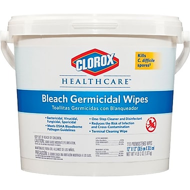 Clorox Germicidal Tissue Wipe, White, 12