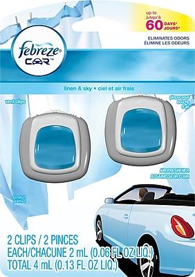 Febreze Car Vent Clips Air Fresheners, Linen