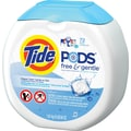 Tide® PODS™ Free & Gentle HE Laundry Detergent, 72 Pods/Pack