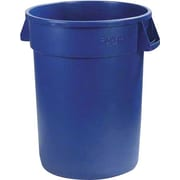 Carlisle Bronco 32 gal. Polyethylene Trash Can without Lid, Blue