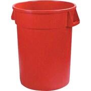 Carlisle Bronco 44 gal. Polyethylene Trash Can without Lid, Red