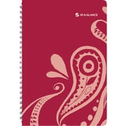AT-A-GLANCE® Playful Paisley Desk Weekly/Monthly Appointment Book, 5 1/2 x 8 1/2, 2015