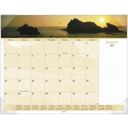 2015 AT-A-GLANCE® Images of the Sea Panoramic Desk Pad, 22 x 17
