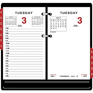 2015 AT-A-GLANCE® Two-Color Desk Calendar Refill, 3 1/2in. x 6in.