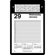 "2016 AT-A-GLANCE® Pad-Style Desk Calendar Refill, 5"" x 8"", White, (E458-50)"