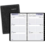 2015 DayMinder® Weekly Appointment Book Tabbed, 4 7/8 x 8, Black