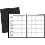 "2016 DayMinder® Monthly Planner, 6 7/8"" x 8 3/4"", Black, (G400-00)"