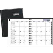 "2016 DayMinder® Hardcover Monthly Planner, 6 7/8"" x 8 3/4"", Black, (G400H-00)"
