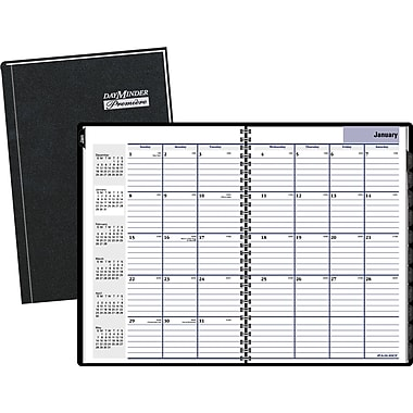 2015 DayMinder® Hardcover Monthly Planner, 7 7/8in. x 11 7/8in.