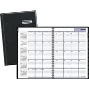 "2016 DayMinder® Hardcover Monthly Planner, 7 7/8"" x 11 7/8"", Black, (G470H-00)"