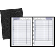 "2016 DayMinder® Four Person Group Daily Appointment Book Planner, 7/78""W x 11""H, Black (G560-00)"