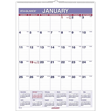 2015 AT-A-GLANCE® Monthly Wall Calendar, 8in. x 11in.