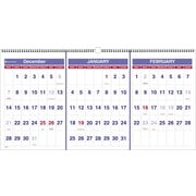 "2016 AT-A-GLANCE Three-Month Reference Wall Calendar, 23 1/2'' x 12"", White/Blue, (PM14-28)"