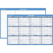 "AT-A-GLANCE® 2016 Horizontal Erasable Wall Planner, Blue/White, (PM200-28), 24"" x 36"""