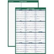 "AT-A-GLANCE® 2016 Vertical Erasable Wall Calendar, January-December, Green/White, (PM210-28), 24"" x 36"""