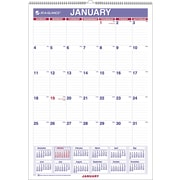 "2016 AT-A-GLANCE® Monthly Wall Calendar, January-December, 12"" x 17"", White/Blue, (PM2-28)"