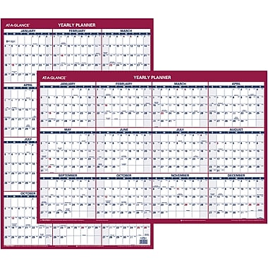 2015 AT-A-GLANCE® Vertical/Horizontal Erasable Wall Calendar, 24in. x 36in.