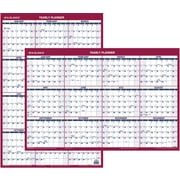 "AT-A-GLANCE® 2016 Vertical/Horizontal Erasable Wall Calendar, January-December, Red/White, (PM26-28), 24"" x 36"""