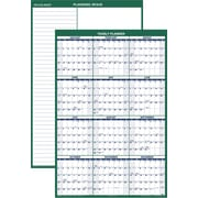 "2016 AT-A-GLANCE® Vertical Erasable Wall Planner, 32'' x 48"", Green/White, (PM310-28)"