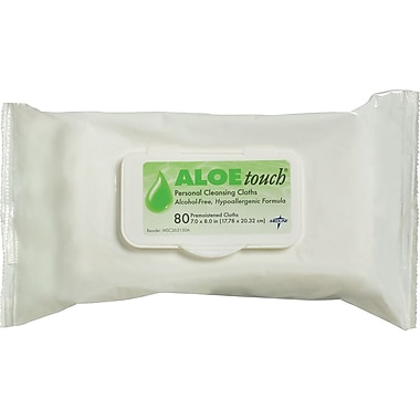 Aloetouch® Wipes, 8in. L x 7in. W, Fragrance, 80 wipes/Pack; 15 packs/case