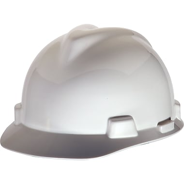 MSA Safety® V-Gard® Slotted Protective Caps and Hard Hats, Polyethylene, Cap, Standard, White