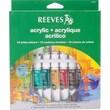 REEVES Non-toxic Acrylic Paint Tube Set, 10 ml (8493201)