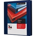 1in. Staples® Heavy-Duty View Binder with D-Rings, Navy