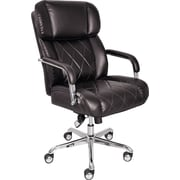 La-Z-Boy Ellison Manager's High-Back Center Pivot Leather Bonded Chair, Black