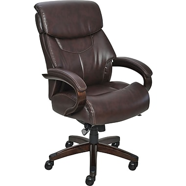 La-Z-Boy Harding Executive High-Back Center Pivot Chair, Brown