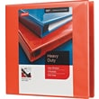 3in. Staples® Heavy-Duty View Binder with D-Rings, Orange